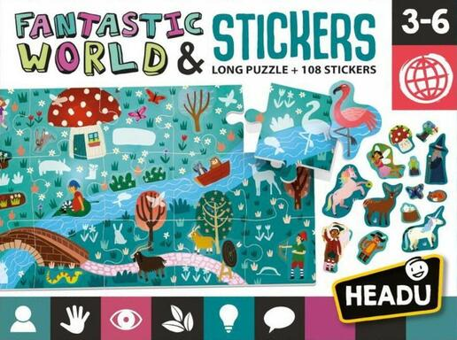 Fantastic World Stickers: Long Puzzle