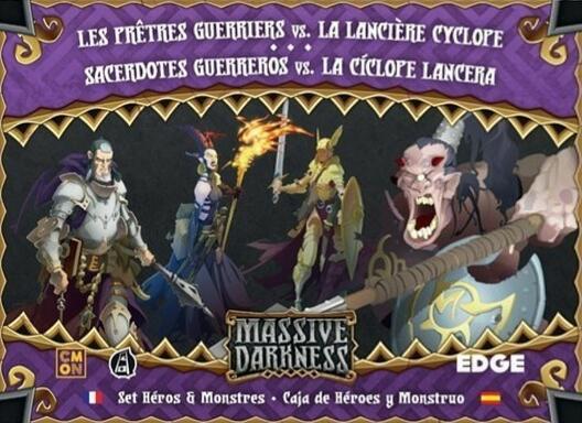Massive Darkness: Set Héros & Monstres - Les Prêtres Guerriers vs. La Lancière Cyclope