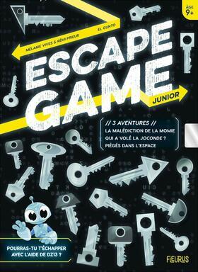 Escape Game: Junior - 3 Aventures (La Malédiction de la Momie / Qui a Volé la Joconde ? / Piégés Dans l'Espace)