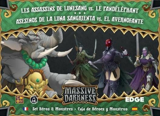 Massive Darkness: Set Héros & Monstres - Les Assassins de Lunesang vs. Le Pandéléphant