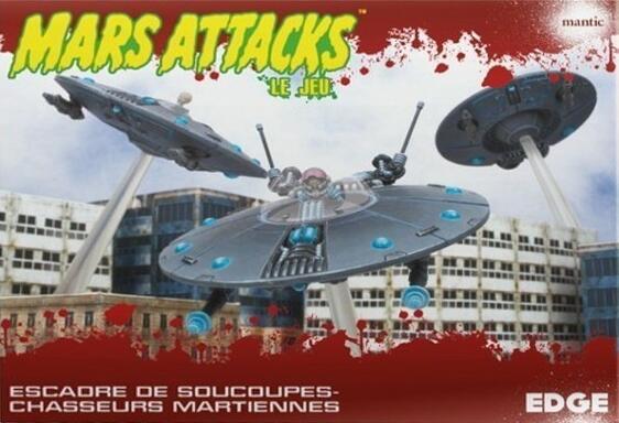 Mars Attacks: Le Jeu - Escadre de Soucoupes-Chasseurs Martiennes