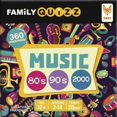 Family Quizz: Music 80's/90's/2000