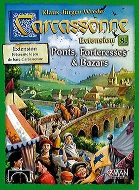 Carcassonne: Extension 8 - Ponts, Forteresses & Bazars