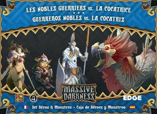 Massive Darkness: Set Héros & Monstres - Les Nobles Guerriers vs. La Cocatrice
