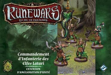 Runewars: Le Jeu de Figurines - Commandement d'Infanterie des Elfes Latari